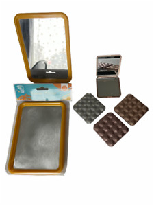 Ladies Travel Mirror Folding 6.5 x 6.5 Compact  or Larger 17.5 X 13cm with Stand