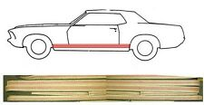 NEW! 1969 Ford Mustang GT Lower Stripe Kit in Red, 6 piece Kit