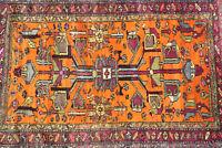 Antiker Orientteppich mit herrlichen Muster umd Farben