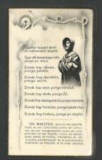 Estampa antigua de San Francisco de Asis  andachtsbild santino holy card