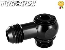 "AN -12 (12AN ) Swivel Adapter To ORB-12 (1-1/16"" UNF) Banjo Bolt Assembly Black"