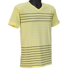 Oakley PRIMARY V STRIPE Tee Size M Medium Lemon Light Mens Boys Cotton T-Shirt