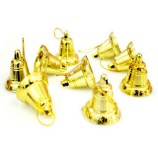 9pcs Golden Color Christmas Tree Hanging Ornaments Xmas Musical Jingle Bells New