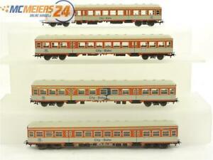 E162 Fleischmann H0 4x Personenwagen Steuerwagen City-Bahn 1./2.Klasse DB