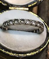 Vintage Antique Deco Silver Paste Ring Size L