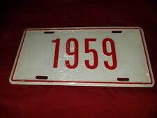 1959 vanity license plate RED
