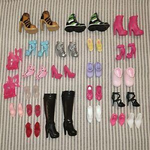 Dolls Shoes Bundle Mixed Job Lot of Vintage Modern Original Barbie & My Scene