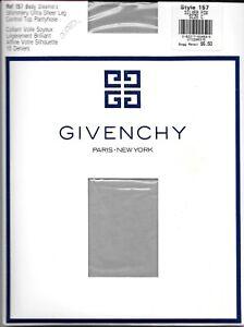 Givenchy # 157 Body Gleamers Control Top Sandaltoe Pantyhose Size C Silver Fox