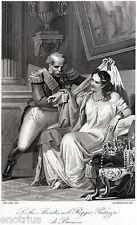 Lola Montez (danzatrice e attrice teatrale) e il re  Luigi I di Baviera. 1863