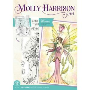 FAIRY OF SPRING FLOWER FAIRY CLEAR Stamp Set Molly Harrison Art MH-STP-FAIRS New