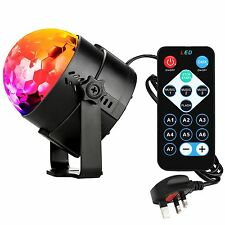 Disco Lights Strobe Stage Light Ball DJ Party Remote Outdoor Decor 7 Colors Lamp