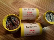 NZ/AU 2015 ANZAC 1 ROLL COINS COMMEMORATIVE COINS!!!!! RARE