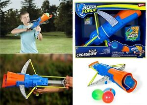 Aqua Force Crossbow Water Balloon Launcher Gun With 50 Balloons Toy Garden Fun