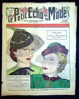Le Petit Echo de la Mode année 1935, Ancien magazine Français N°10