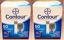 Bayer Contour Test Strips 100 ct. (2 boxes of 50) Exp: 2018-12