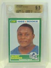 Barry Sanders 1989 Score #257 Detroit Lions ROOKIE BGS 9.5 GEM MINT