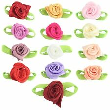 15mm Satin Ribbon Roses! Craft Bows Mini Size Artificial Silk Flowers