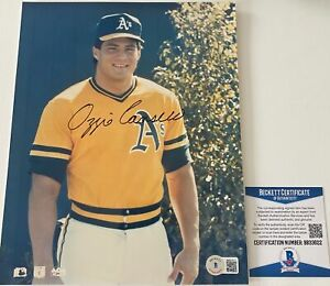 Ozzie Canseco Signed Oakland Athletics A's 8x10 Photo Beckett BAS COA Autograph