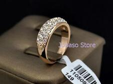 Swarovski Rose Gold Plated Band Fashion Rings