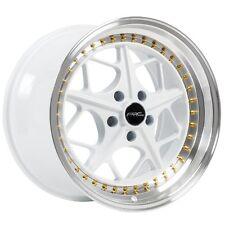 18x8.5 ARC AR2 5x100 +30 White Rims Fits Tc Fr-S Jetta Golf Gti Brz Wrx