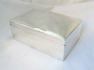 VICTORIAN SOLID STERLING SILVER CIGARETTE / TRINKET BOX - BIRMINGHAM 1896