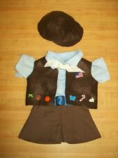"""MODERN BROWNIE GIRL SCOUT shirt skirt hat vest++ for 16"""" CPK Cabbage Patch Kids"""