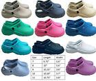 Medical Nurse Womens Comfortable Lightweight Slip Resistant Clogs Shoes 9 Colors