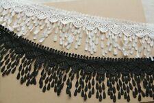 2Y Lace Embroidered Craft Skirt Dress Hem Trim Applique Fringe Sewing Repair DIY
