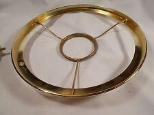 Vintage Brass 10 inch Oil Lamp Shade Ring 2&7/8in Burner Open