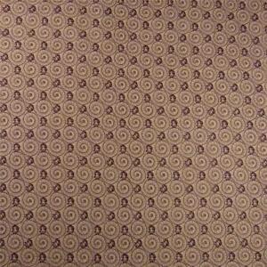 Brown Nautilus Swirls & Neats on Cream, Cotton Fabric, Per 1/2 Yd