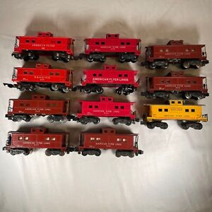 Lot of 11 American Flyer Vintage Caboose All Out of Box  - Not tested - As is