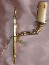 """1 applique bronze doré style """" Empire """" - Motif col de cygne & colonne torchère"""