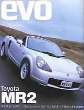 "Toyota MR2 Evo MAGAZINE Essai Routier comparaison voiture ""Brochure"" mars 2000"