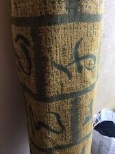 10m Japanese Oriental Forest Green Gold Chenille Fabric Curtains FREE POSTAGE