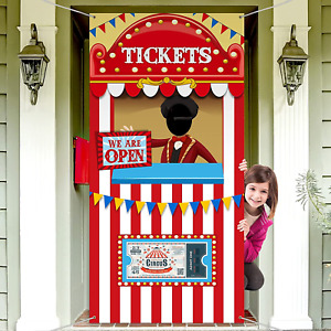 Carnival Circus Party Decoration, Carnival Photo Door Banner Backdrop Props, for