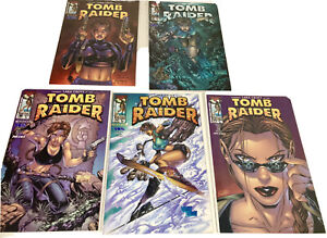 Tomb Raider Comic Lot Of 5 - Top Cow #1/2, 2, 8, 12, 14 - Andy Park Covers - NM