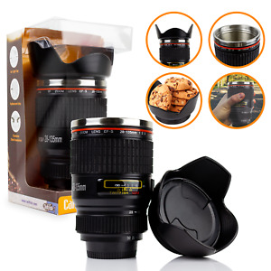 IDEAL GIFT Camera Lens Coffee Tea Mug With Stainless Steel Thermos