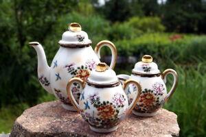 Kaffeekern Teekern China Kanne Milchkännchen Zuckerdose  Sammlerstück