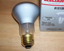 (WHOLESALE) 36 BULBS, CASE OF 100 WATT EXTENDED LIFE FLOOD LAMPS (100R20/FL/130)