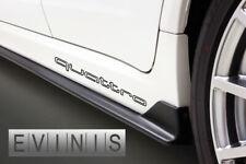 AUDI QUATTRO OUTLINE 2x Side Skirt Stickers Car Decals Graphics DEFAULT BLACK