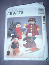 """MCCALLS PATTERN 8387 ~ CHRISTMAS SNOW FAMILY 13"""" & 20"""" SNOW PEOPLE~ NEW"""