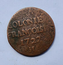 More details for 1722h french colonies 9 deniers coin