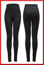 Leggings da donna GLADYS leggins nero pancia piatta micropile elasticizzato