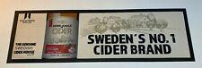 HERRLJUNGA SWEDISH CIDER BAR RUNNER - DRINK PUB HOME BAR MAT DRINKS