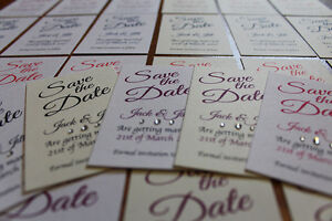 10 magnetic Save the Date Cards and envelope, card, wedding