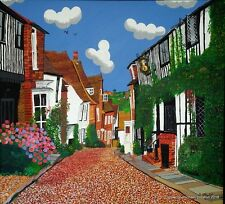 RYE MERMAID STREET 2016 EAST SUSSEX LIMITED EDITION PRINT BY MICHAEL PRESTON