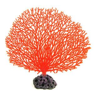 Artificial Silicone Resin Coral Anemone Aquarium Fish Tank Decor Home