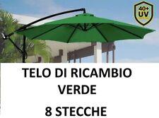 TOP TELO RICAMBIO OMBRELLONE DECENTRATO ALLUMINIO TONDO Ø300 CON AIRVENT VERDE