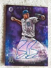 Detroit Tigers Beau Burrows 2016 Bowman Inception Purple Auto Card #065/150