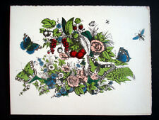 Vintage Imagerie Pellerin d'Epinal Fleurs/Flowers Pochoir Greeting Cards InvLL